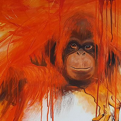 Orangutan artwork by Jane Z