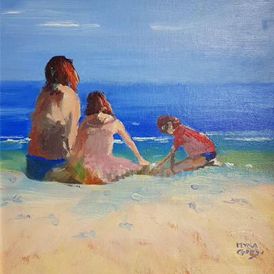 At The Beach With Mum by Myra Good
