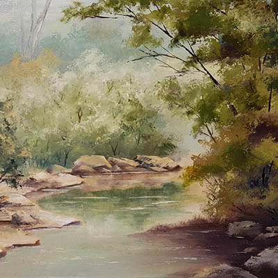 Creek artwork by Helen Hornibrook