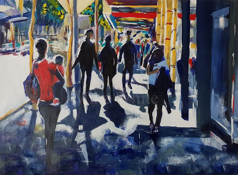 Stroll On Edward St by Mike White