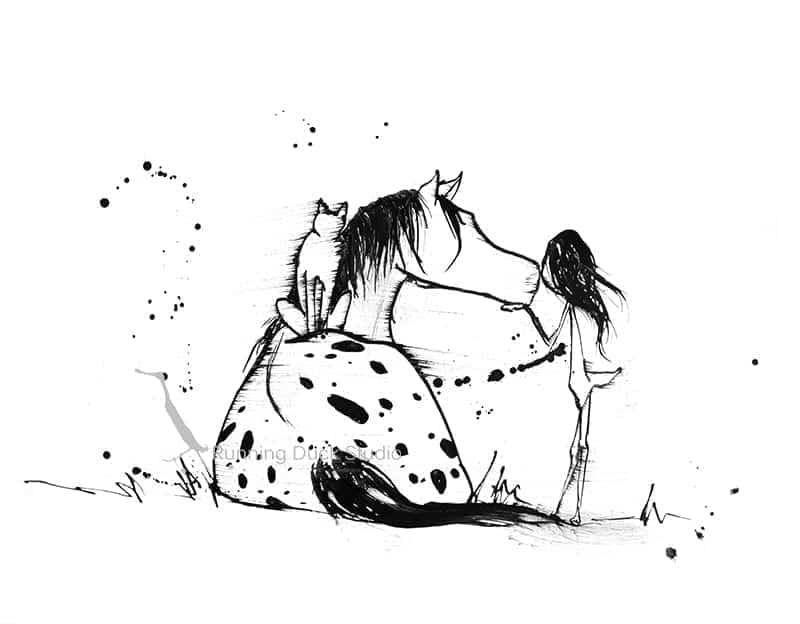 Running Duck Studio Ink Gallery - Appaloosa artwork by Running Duck Studio artist