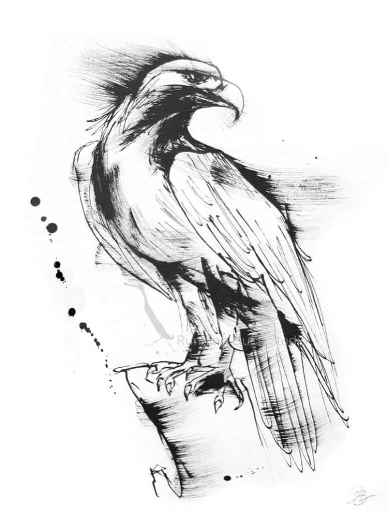 Running Duck Studio Ink Gallery - Eagle artwork by Danielle B Latta
